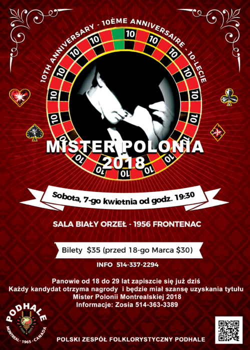 2018 Mr Polonia Polish Candidates Flyer v3