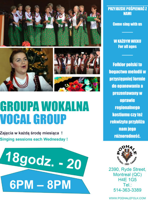 Vocal Group Singing Sessions